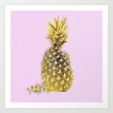 Pineapple Pixels Art Print