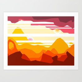 Canyons Art Print