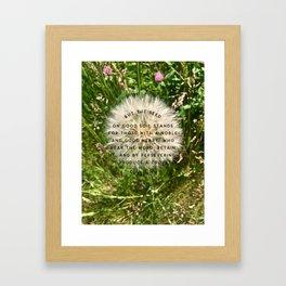 Seed on Good Soil Stands Framed Art Print
