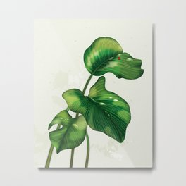 Big leaves and Ladybird Metal Print