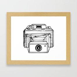 Vintage Bellows Camera Drawing Framed Art Print