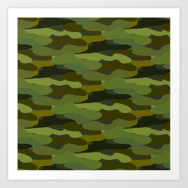Khaki camouflage Art Print