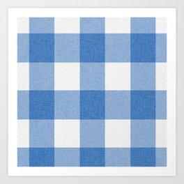 Blue and White Buffalo Check Art Print
