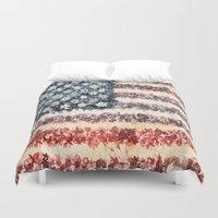 usa Duvet Covers featuring USA by Bekim ART