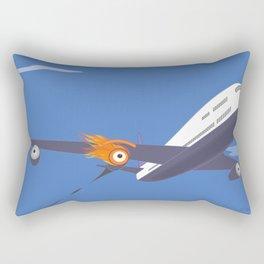 blow up glance Rectangular Pillow
