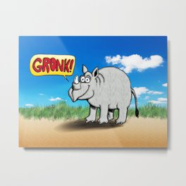 GRONK! Metal Print