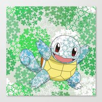 squirtle Canvas Prints featuring Squirtle by Mischievie