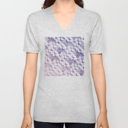 Abstract Geometric Cubes Design Unisex V-Neck