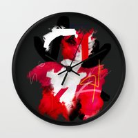 cracked Wall Clocks featuring Cracked by Daniel Malta