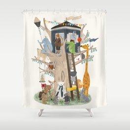 little playhouse Shower Curtain