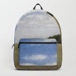 Rolling Hills, Tuscany, Italy landscape painting by Vilhelm Hammershoi Backpack