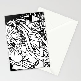 Adult coloring abstract lineart Stationery Cards