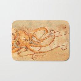 Octopus Drinking Tea Bath Mat