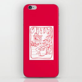A Warm Fire Glows Red iPhone Skin