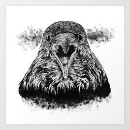 Fuming Crow Art Print