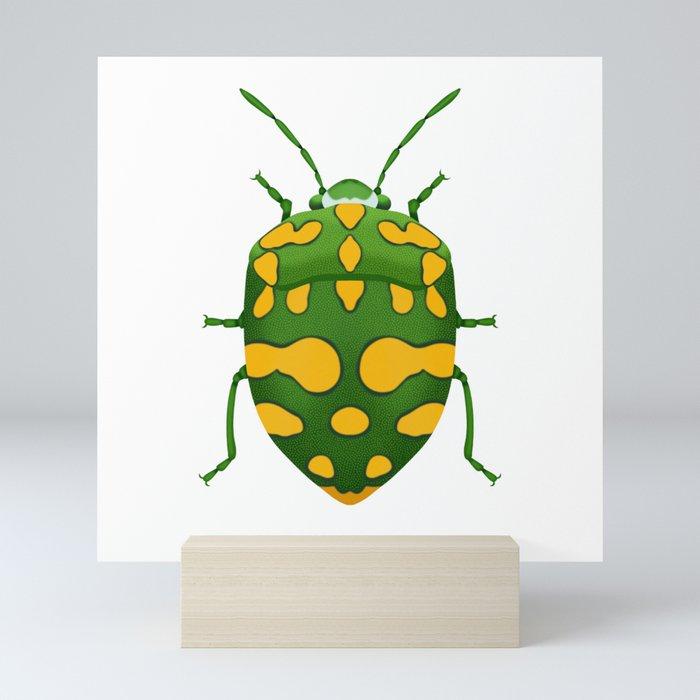 Physic Nut Stink Bug Mini Art Print