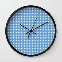 Blue Yellow Cell Checks Wall Clock