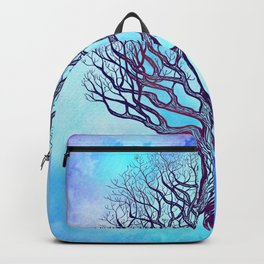 Tree of Life Blue Zen Design Backpack