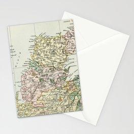 Scotland Vintage Map Stationery Cards