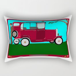 A Man and his Vintage Car Rectangular Pillow