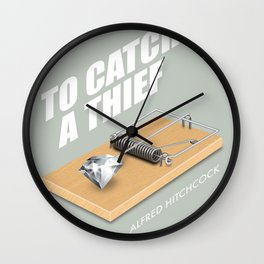 To Catch A Thief - Alternative Movie Poster Wall Clock