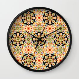 Groovy Carousel Pattern Wall Clock