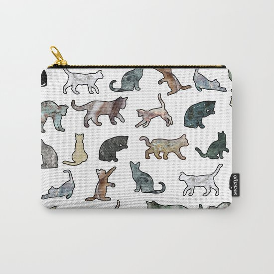 Cats shaped Marble - White Carry-All Pouch