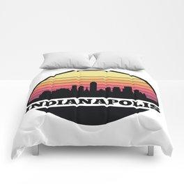 Indianapolis Skyline Comforters