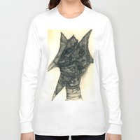 faces Long Sleeve T-shirts featuring Faces by Attila Hegedus