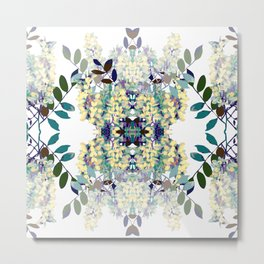 Seamless pattern of acacia Metal Print
