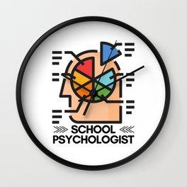 School Psychologist with Brain Wall Clock