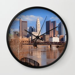 Columbus Ohio 5 Wall Clock