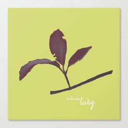 Small red branch Canvas Print
