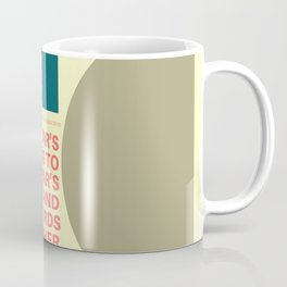 """TS Elliot """"And to make an end is to make a beginning. """" Coffee Mug"""