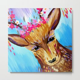 Deer Design Metal Print