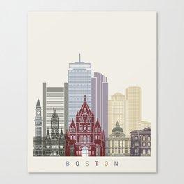 Boston skyline poster Canvas Print