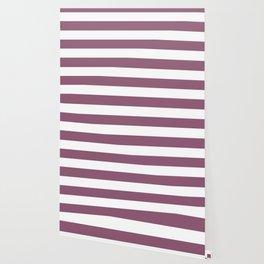 Blackberry - solid color - white stripes pattern Wallpaper