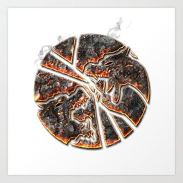 Magma Emblem on white Art Print