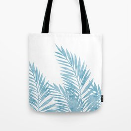 Palm Leaves Light Blue Tote Bag