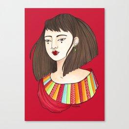 Eun-Mi / Red Canvas Print