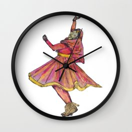 Indian Kathak Dancer Wall Clock