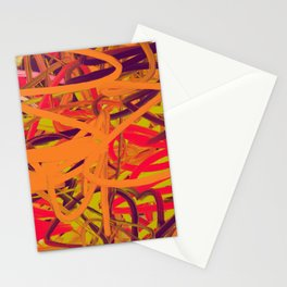Orange Purple Green & Pink Abstract Stationery Cards