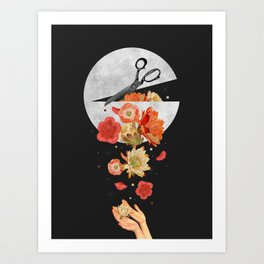Moon Spill Art Print