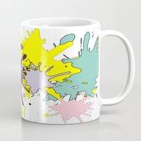 splatter Mugs featuring Splatter by fauzita
