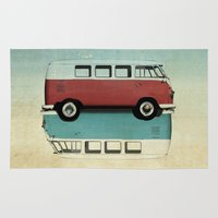 ying yang Area & Throw Rugs featuring Kombi Ying and Yang by Vin Zzep