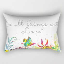All Thing With Love Art Print Rectangular Pillow