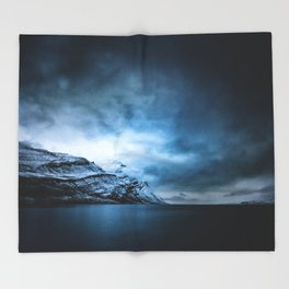 The Arctic - Storm Over Still Water Throw Blanket