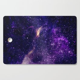 Ultra violet purple abstract galaxy Cutting Board
