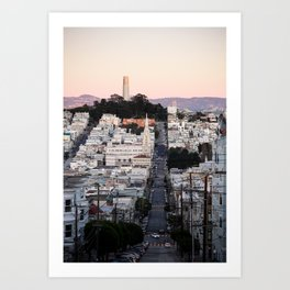 Coit Tower at Twilight Art Print