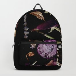 Vampy, Witchy, Gothic Pressed Flowers Backpack